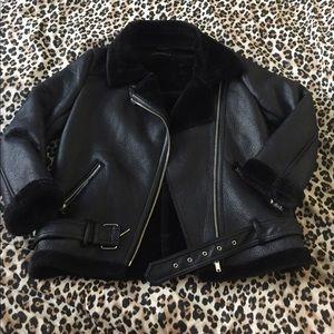 Zara woman aviator jacket/coat size L fits size 6